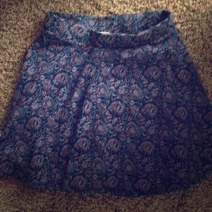 Blue cotton floral skirt from pac sun